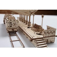 Ugears Plywood Railway Platform Collectible Mechanical