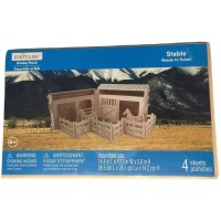 Creatology 3D Wooden Puzzle Horse Stable 144 X 103 X