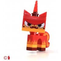 Lego Movie Angry Kitty Minifigure Red Unikitty