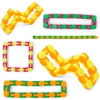 Srenta Assorted Colors 1075 Wacky Tracks Snap And Click Puzzle Sensory Fidget Toys Stress Relief
