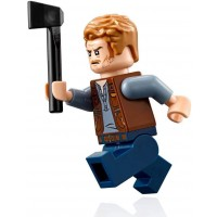 Lego Jurassic World Minifigure Owen Grady With Motorcycle And Display Stand