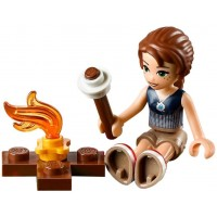 Lego Elves Minifigure Emily Jones With Camp Fire And Marshmallow Smores