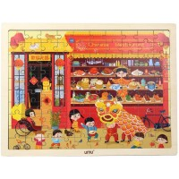 Umu Jigsaw Puzzles Toys With The Chinese Restaurant Wooden Toys For Toddlers