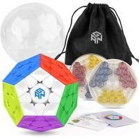 Coogam Gan Megaminx Cube Magnetic Version 33 Gans Megaminx M Stickerless Speed Cube Toy Pentagonal