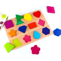 Skyfield Wooden Shape Puzzles Vibrant Color Puzzles For Toddlers 3 Years Old And Up Preschool Boys