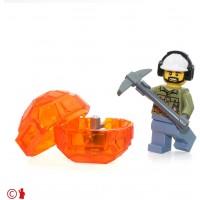 Lego City Volcano Explorers Minifigure Male With Headphones