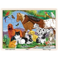 Melissa Doug Pets Wooden Jigsaw Puzzle With Storage Tray 24