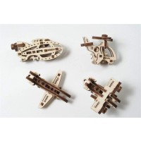 Steam Line Toys Ugears Models 3D Wooden Puzzle Mechanical Ufidgettribiks Aircrafts Set Of