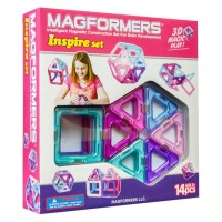 Magformers Inspire 14 pc Magnetic Building Set for Girls