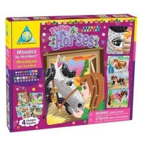Sticky Mosaics I Love Horses Girls Craft Kit