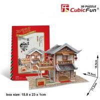 W3130H Cubicfun Cubic Fun 3D Puzzle Model China Flavor Leming Teahouse