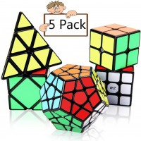 Speed Cube Set Vdealen Puzzle Cube Bundle 2X2X2 3X3X3 Pyramid Megaminx Skew Speed Cube Smooth