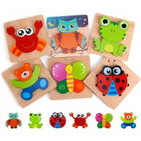 Slotic Wooden Puzzles For Toddlers Animal Jigsaw Puzzles For 1 2 3 Years Old Boys Girls Kids