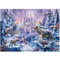 Daliyfu 1000 Piece Snow Wolf Puzzle Adult Winter Wolf Landscape Jigsaw Puzzles Educational Toys