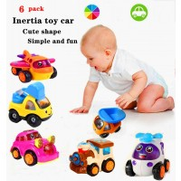 6 Pack Mini Combination Construction Vehicle Racing Truck Child Inertia Small Plane Car Toy Set 13