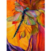 Jigsaw Puzzle 1000 Piece Wooden Puzzle Color Dragonfly Family Decorations Unique Birthday Present