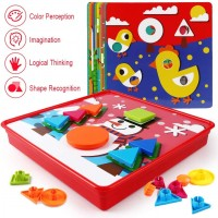Korano Button Art Toys For Toddlers Color Matching Mosaic Pegboard Early Learning Educational 3D