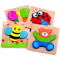 Magifire Wooden Animal Jigsaw Puzzles For Toddlers 1 2 3 Years OldBoysgirls Educational Toys Gift