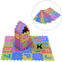 Gloglow 36Pcs Infant Soft Eva Foam Play Puzzle Mat Numbers Letters Baby Children Kids Playing
