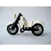 Lego Motorcycle White Harley Style Loose Minifigure
