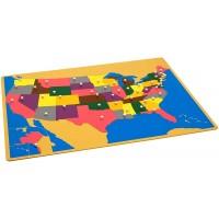 Kid Advance Montessori Usa Puzzle Map W Control