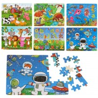Wooden Puzzles Ages 38 Toddlers Toys For 6 Girls BoysDinosaur Jigsaw Puzzle 6 Pack 360
