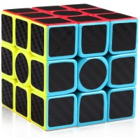 Dfantix Carbon Fiber 3X3 Speed Cube 3X3X3 Magic Cube Puzzle Brain Teaser