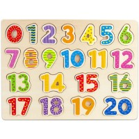 Imagination Generation Professor Poplars Wooden Numbers Puzzle Board Learn To Count With Colorful