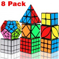 Speed Cube Set Libay Magic Cube Bundle 2X2 3X3 4X4 Pyramid Megaminx Skew Mirror Ivy Sticker Cube