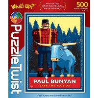 Paul Bunyan And Babe The Blue Ox Whats Up Series 500 Piece Jigsaw