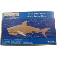 Creatology 3D Wooden Puzzle Great White Shark 2 Sheets 2
