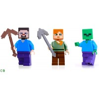 Lego Minecraft Combo Pack Steve Alex And Zombie