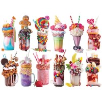 Lafayette Puzzle Factory Freak Shakes A Collection Of 12 Mini Shaped Puzzles Totaling 500 Color