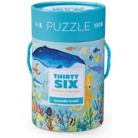 Crocodile Creek Thirtysix Ocean 100Piece Jigsaw Puzzle In Canister