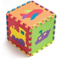 Teeny Toyz Large Foam Puzzle Play Mat 10 Large Tiles 12X12 Inches Each Fun Popout Pieces On Every