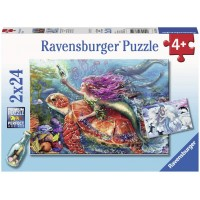 Ravensburger 07834 Mermaid Adventures 2 X 24 Piece Puzzles In A Box 2 X 24 Piece Puzzles Every