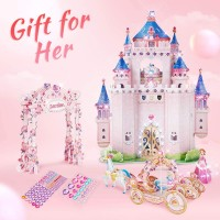Cubicfun 3D Kids Puzzle Princess Doll House Gift For Women Princess Secret Garden Gift For 5 Girl