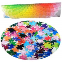 Lrrh 1000 Pcs Round Jigsaw Puzzles Rainbow Palette Intellectual Game For Adults And