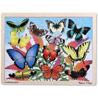 Melissa Doug Butterfly Garden Wooden Jigsaw Puzzle With Storage Tray 48