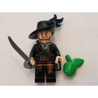Lego Pirates Of The Caribbean Minifigure Hector Barbossa X1