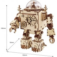 Rowood Steam Punk Music Box 3D Wooden Puzzle Craft Toy Gift For Adults Age 14 Robot Diy Model