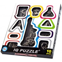 Hljgift Iq Test Toys Mind Game Brain Teaser Metal Wire Puzzles Adults Set Of
