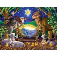 A Child Is Born Christmas Jigsaw Puzzle 550