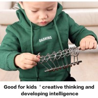 Roxenda Metal Wire Puzzle Set Of 18 Unlock Brain Teaser Iq Test Toy Classic