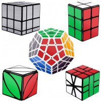 Tresbro Speed Cube Set Of 5 Pack Mirror Cube Megaminx 2X2X3 Cuboid Cube Ivy Skew Cube Sq1 Cube