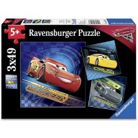 Ravensburger Disney Cars 3 3 X 49 Piece Jigsaw Puzzle Every Piece Is Unique Pieces Fit Together