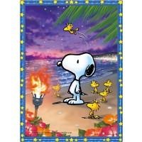 165 Piece Jigsaw Puzzle Crystal Snoopy Sunset Beach