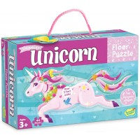 Peaceable Kingdom Shimmery Unicorn Floor Puzzle 1