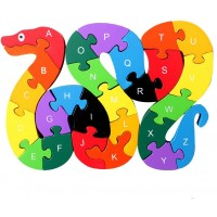 Kennedy 26 Pcs Wooden Letters And Numbers Jigsaw PuzzlesInteractive Educational Children Learning