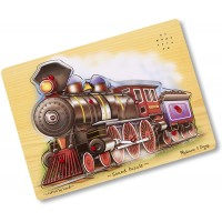 Melissa Doug Train Sound Puzzle Wooden Puzzle With Sound Effects 9
